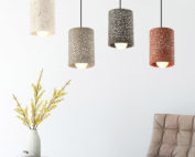 Cement bell lamp-Round-white-black-yellow