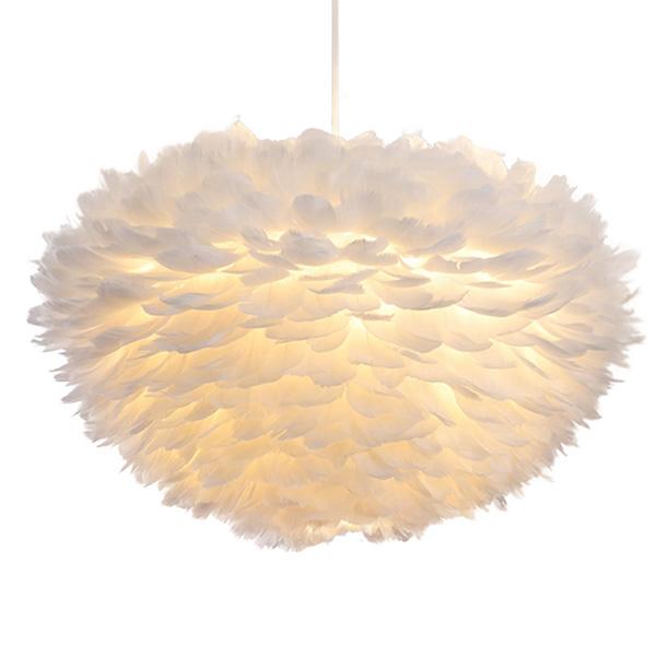 Modern-creative-white-feather-pendant-lamp-indoor