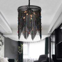 Black vintage drop chandelier