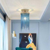 blue chandelier lighting