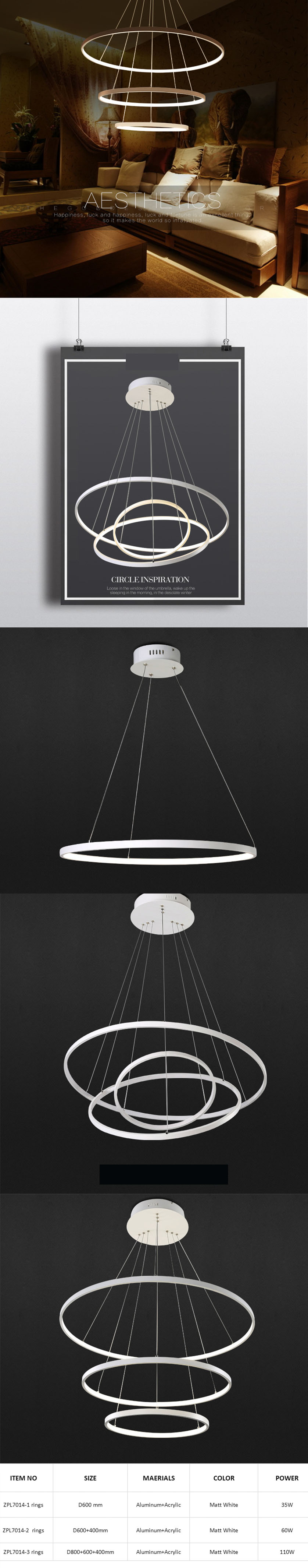circular ring pendant light