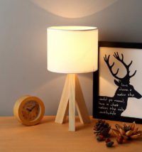 small wooden table lamp