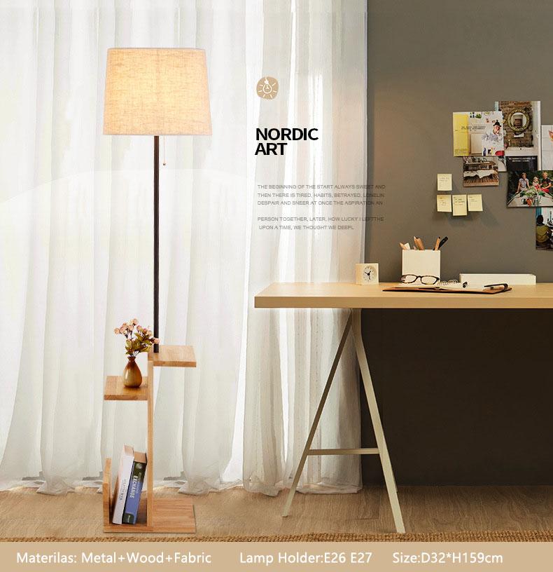 wood shelf lamp