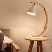 wood task lamp
