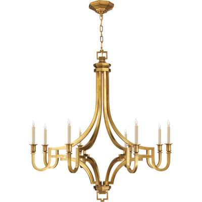 Solid brass chandelier