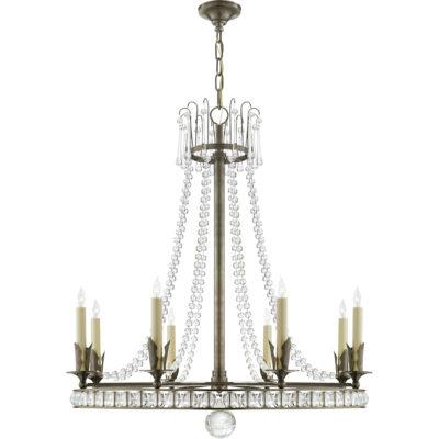 metal circle chandelier