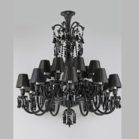 baccarat black crystal chandelier