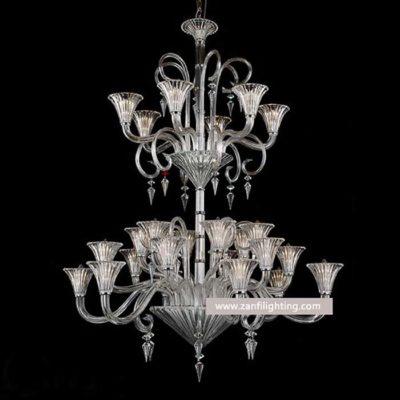 clear glass chandelier