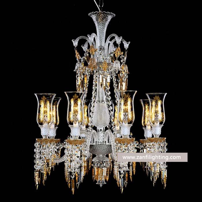 vintage glass chandelier