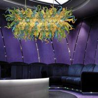 clear blown glass chandelier