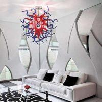 custom blown glass chandelier