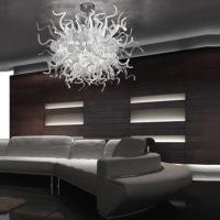 sea glass chandelier