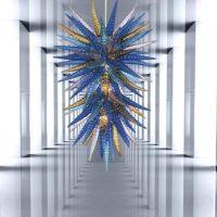 glass drop chandelier