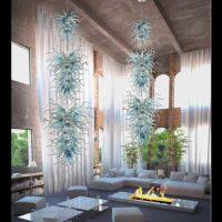 glass bead chandelier