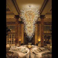 glass rod chandelier