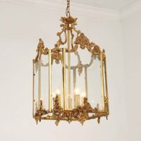 bronze and brass chandelier