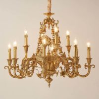 brass branch chandelier