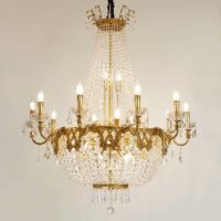 gold brass chandelier