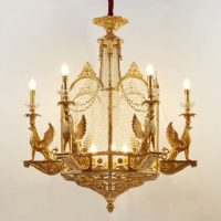 brass light chandelier