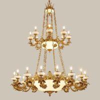 brass rectangular chandelier