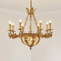brass rectangular chandelier