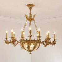 brass and bronze chandelier