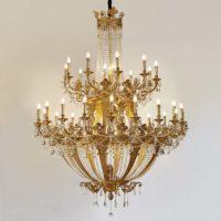simple brass chandelier