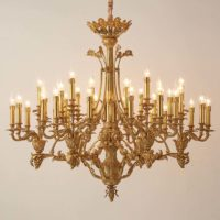 brass sphere chandelier