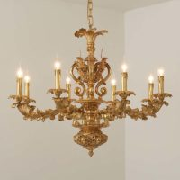 antique solid brass chandelier