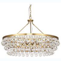 white modern chandelier
