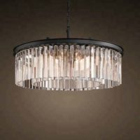 retro glass chandelier