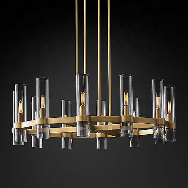antique brass drum chandelier