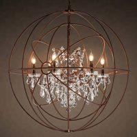 retro palladium chandelier