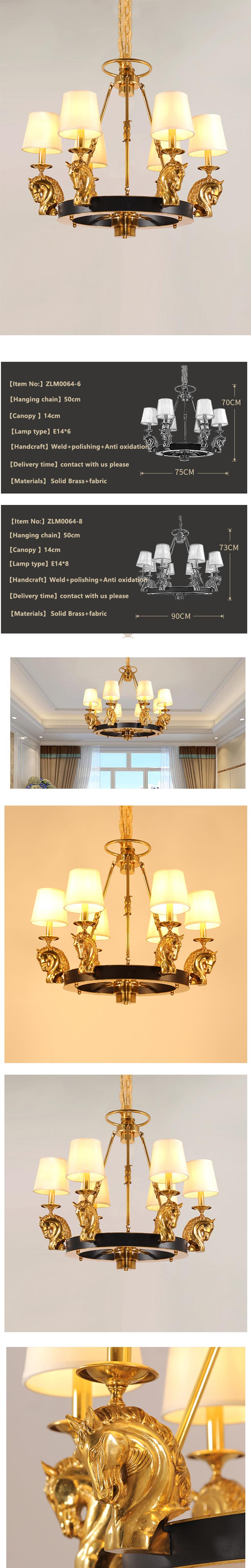 brass chandelier with shades