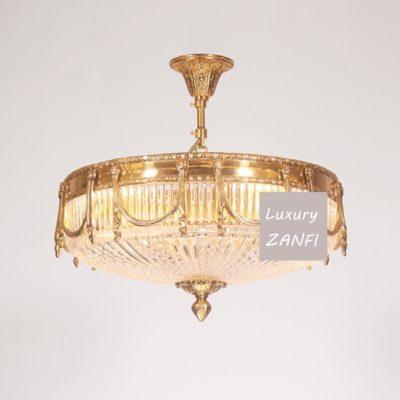 vintage copper chandelier