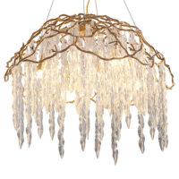 modern gold chandelier lighting