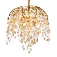 modern leaf chandelier