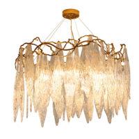 round crystal chandelier modern
