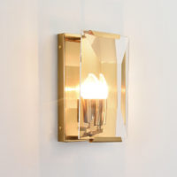 glass and brass wall lights
