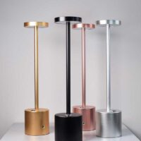 cordless battery table lamp for bar